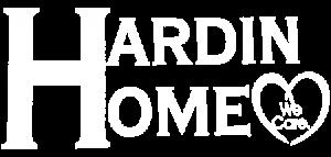Hardin Home Nursing Home white logo